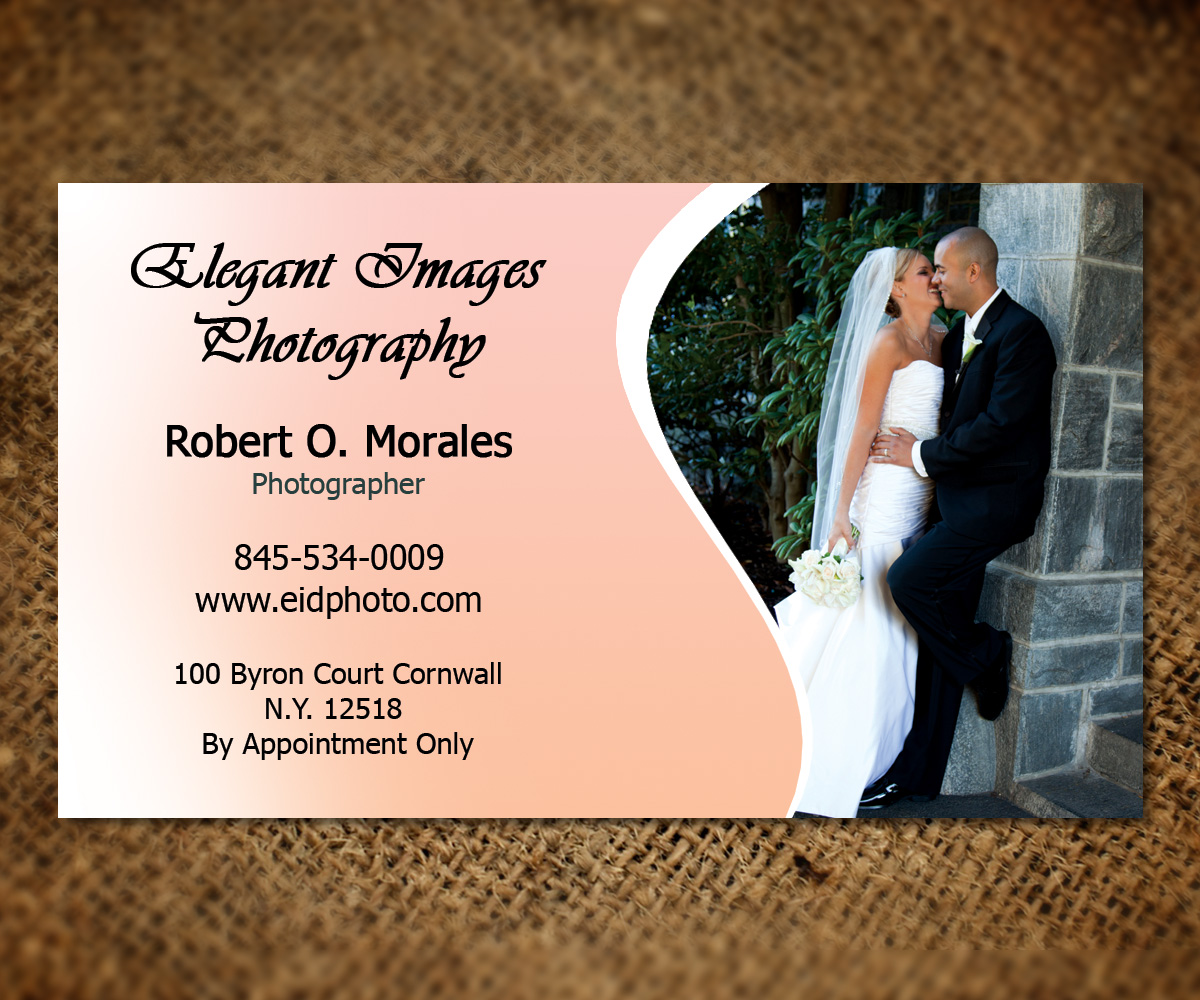 Bold, Serious Business Card Design for Elegant Images Photography ...