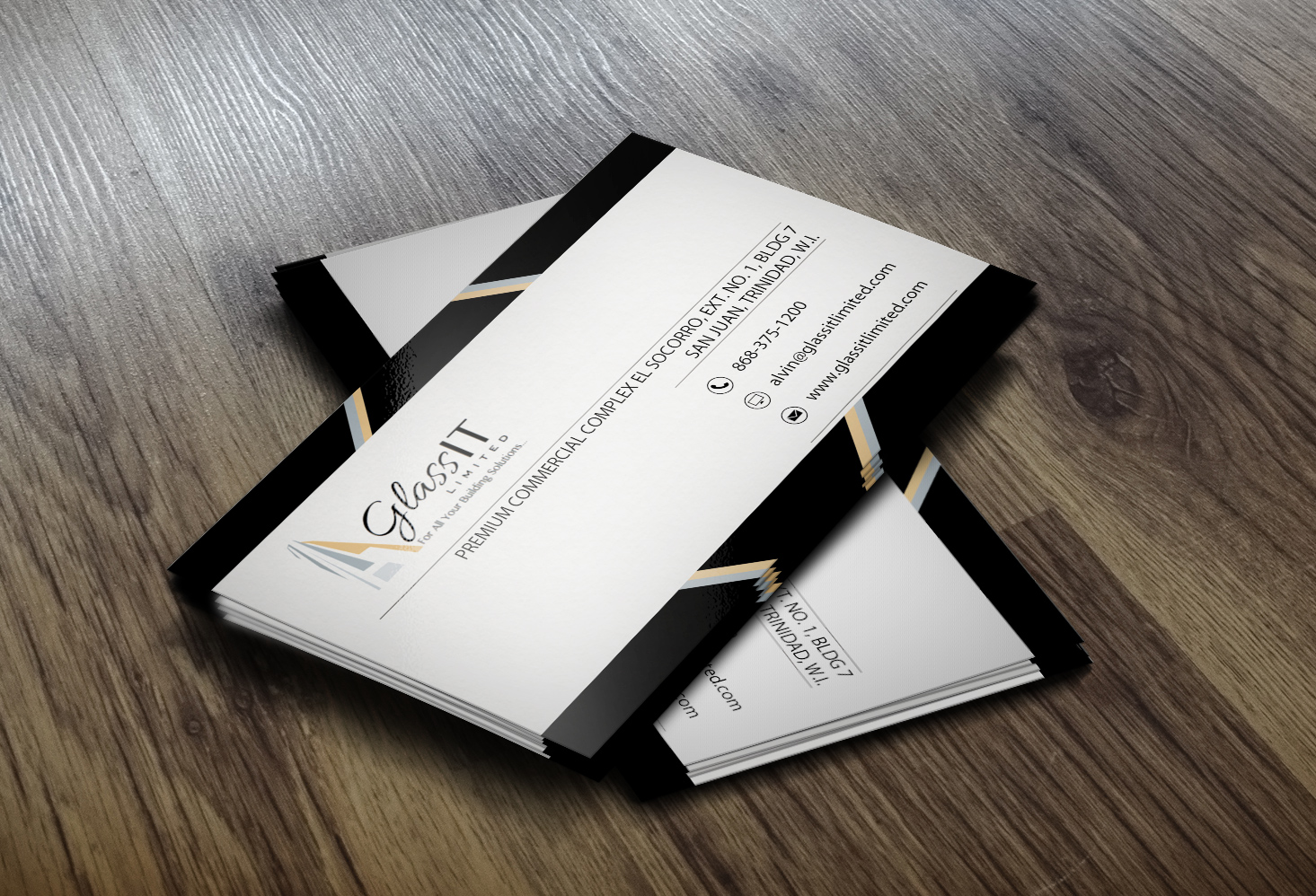 Modern, Bold Business Card Design for Glass it Limited by Lanka ...