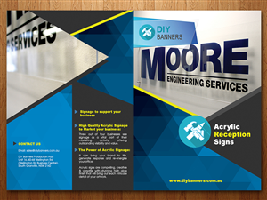 Brochure Design by MOATAZ AZAB - Australian Based Signage & Print Business needs...