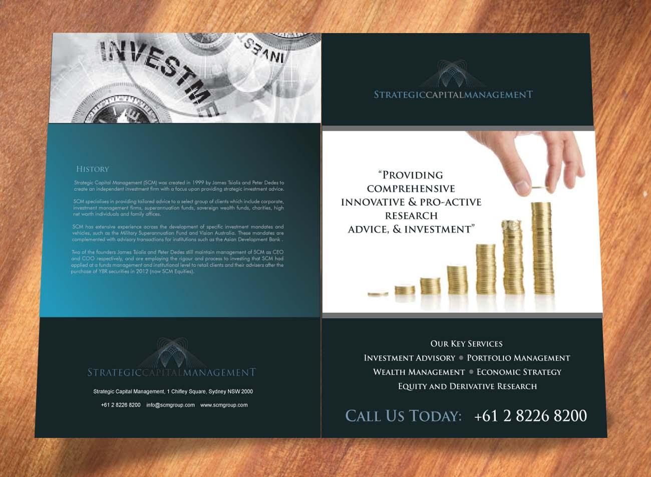 Upmarket, Serious, Financial Brochure Design for a Company