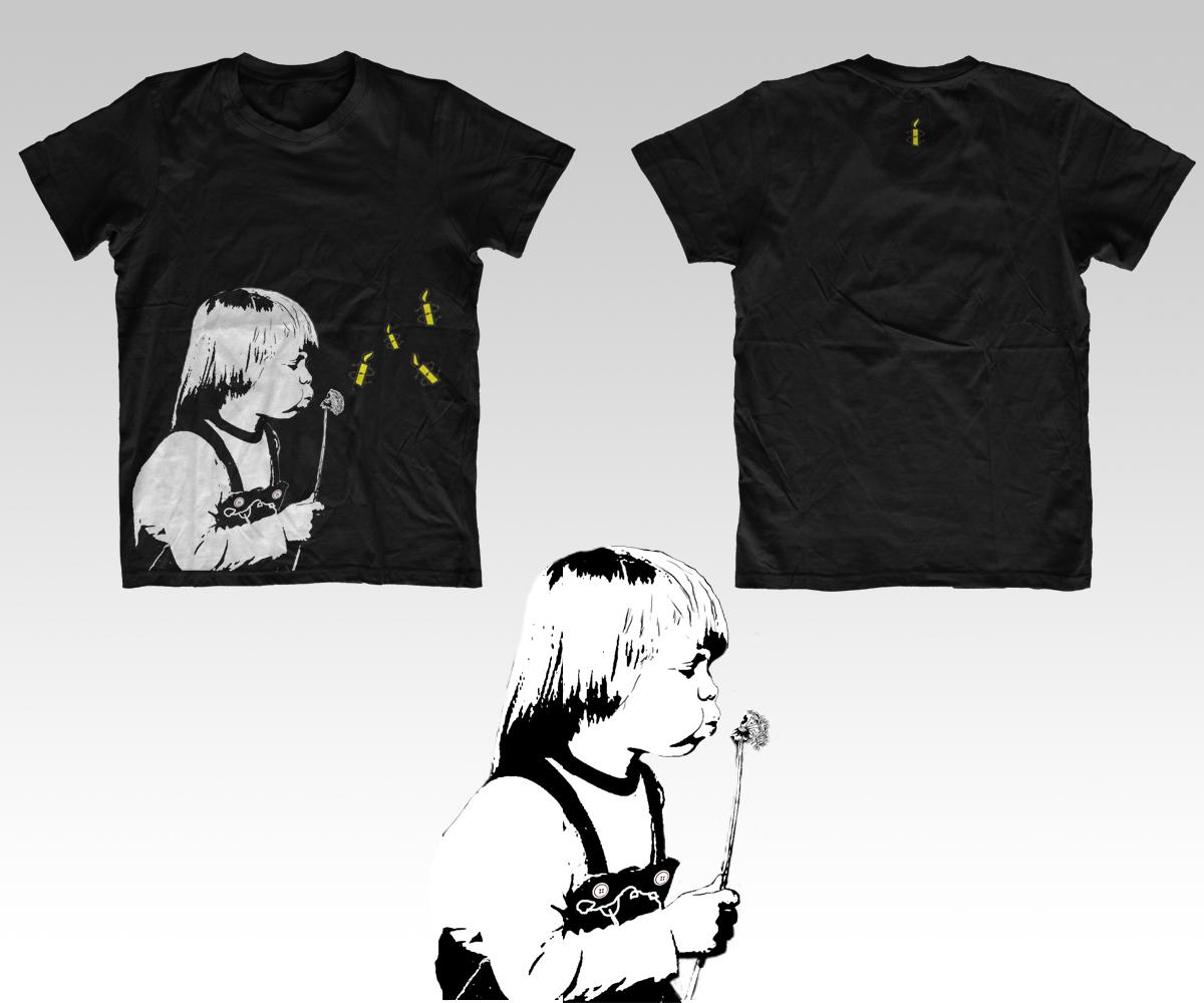Shirt design australia - T Shirt Design By Le Art For Amnesty International Australia Clothing Design Comp Design