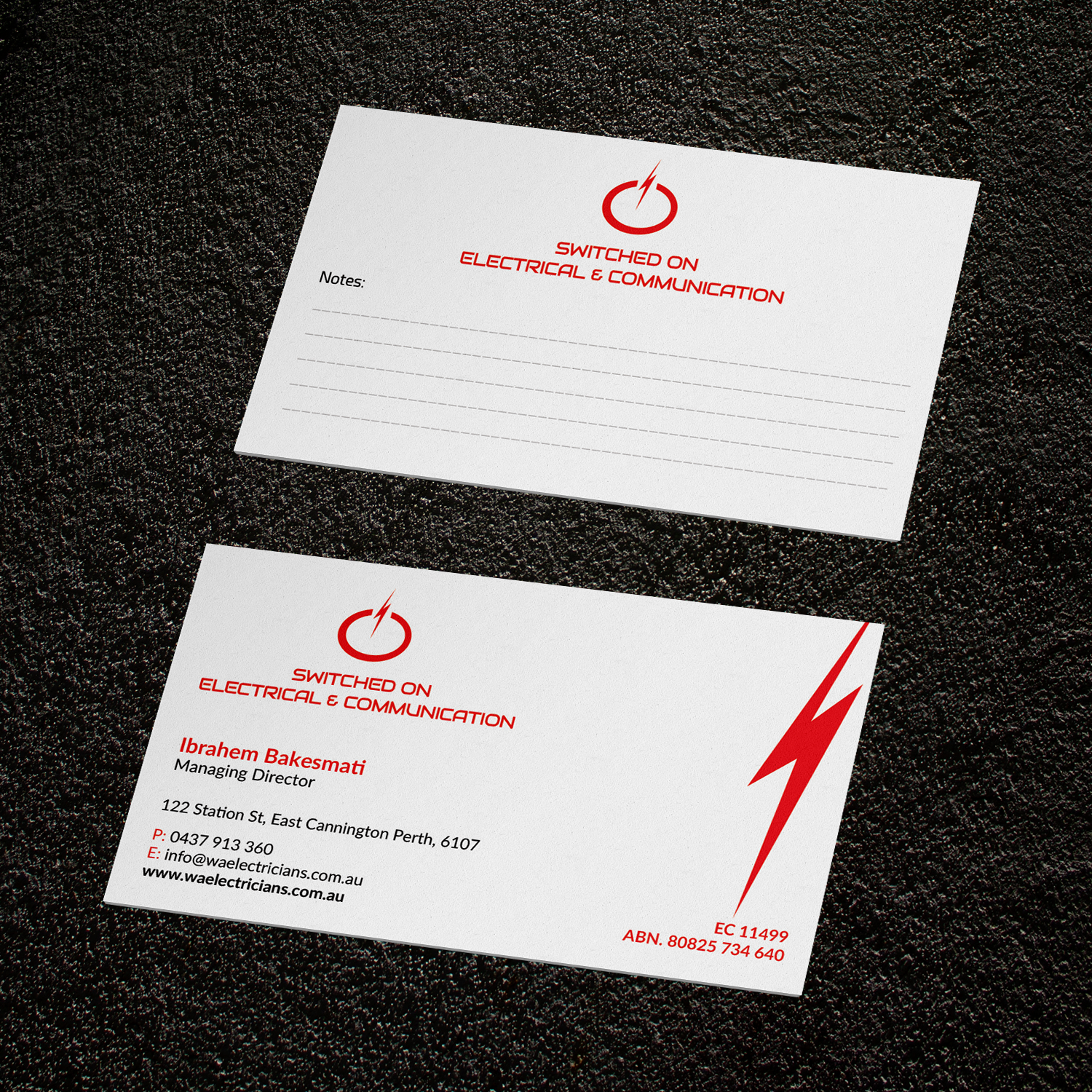 serious modern business card design for ibrahem bakesmati by