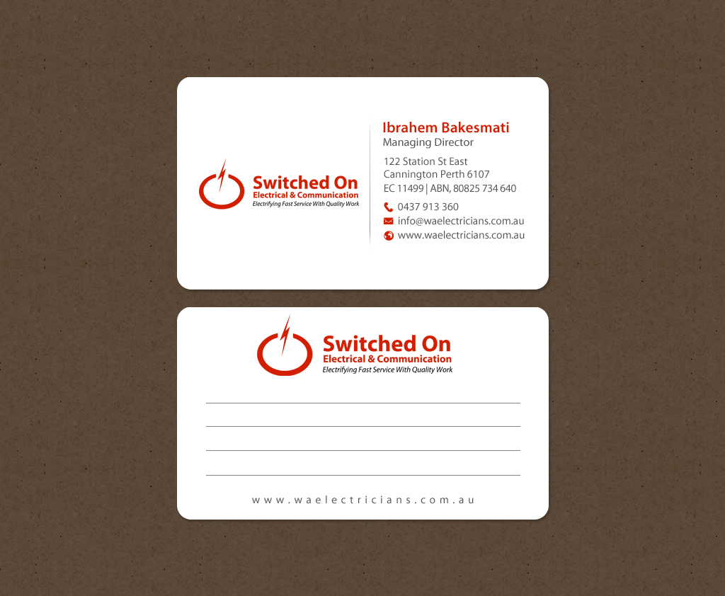 Serious, Modern, Electrical Business Card Design for a Company by ...