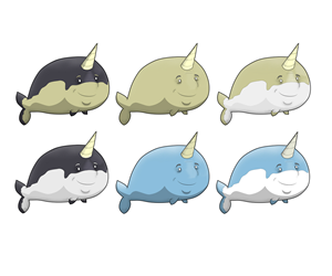 Company Mascot Illustrations - Narwhal! | Mascot Design by Gargantuan Media