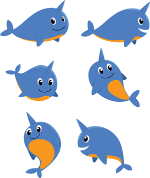 Company Mascot Illustrations - Narwhal! | Mascot Design by Masyhurizal