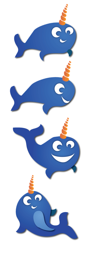 Company Mascot Illustrations - Narwhal! | Mascot Design by Angler Designs