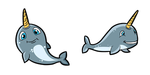 Company Mascot Illustrations - Narwhal! | Mascot Design by Bling Connect Ink Production