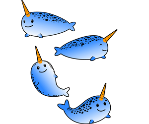 Company Mascot Illustrations - Narwhal! | Mascot Design by Hidden Sketches