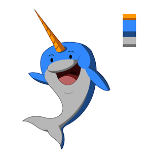 Company Mascot Illustrations - Narwhal! | Mascot Design by Jose_Ochoa