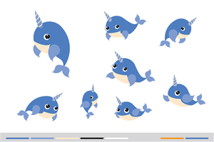 Company Mascot Illustrations - Narwhal! | Mascot Design by Ell Doe