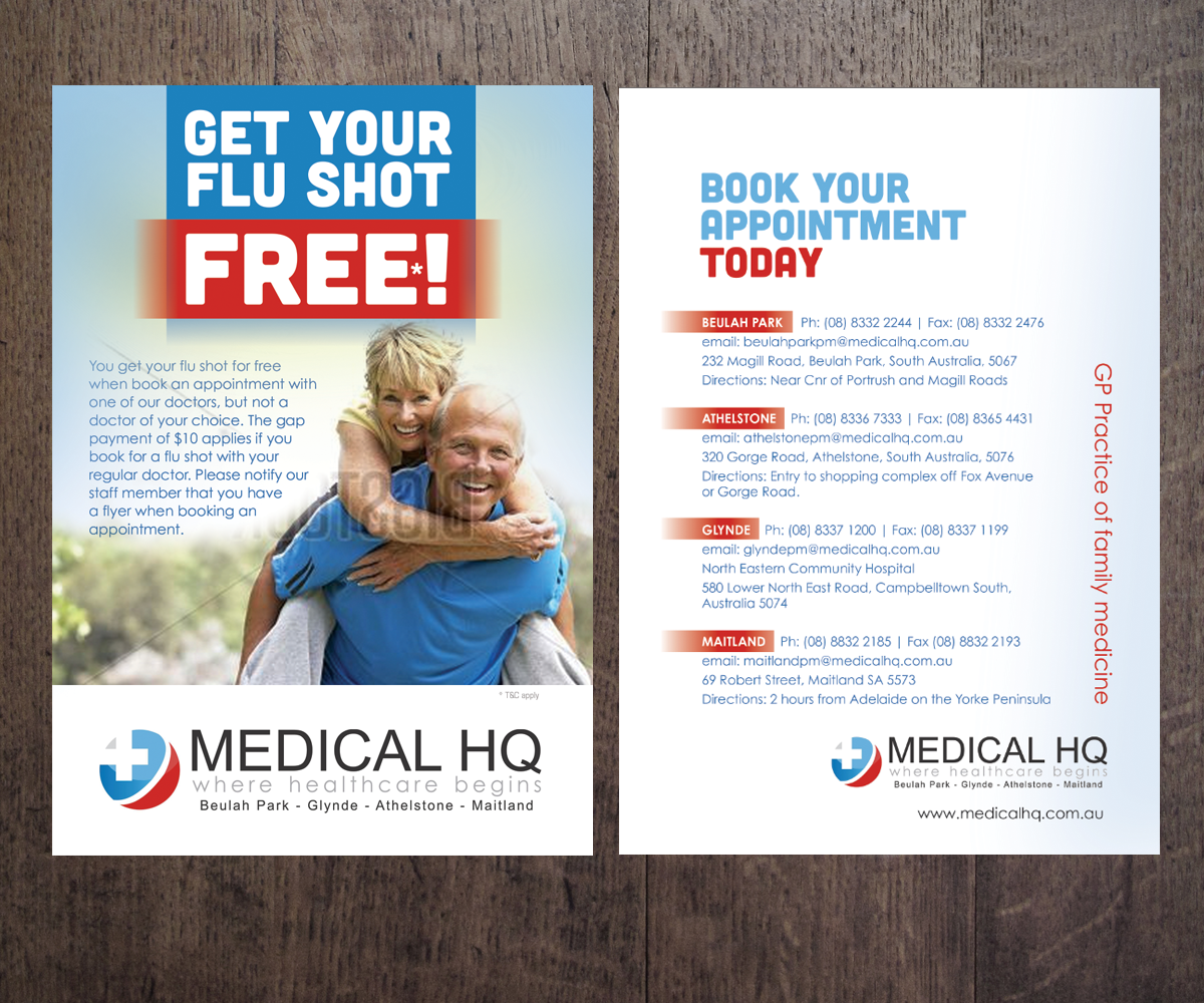 Serious, Elegant, Medical Flyer Design for a Company by see