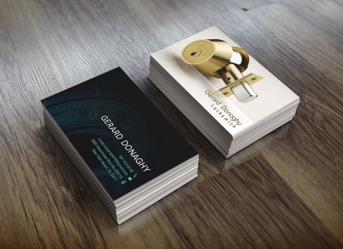 Bold professional locksmith business card design for a company by bold professional locksmith business card design for a company in united states design 5697438 colourmoves