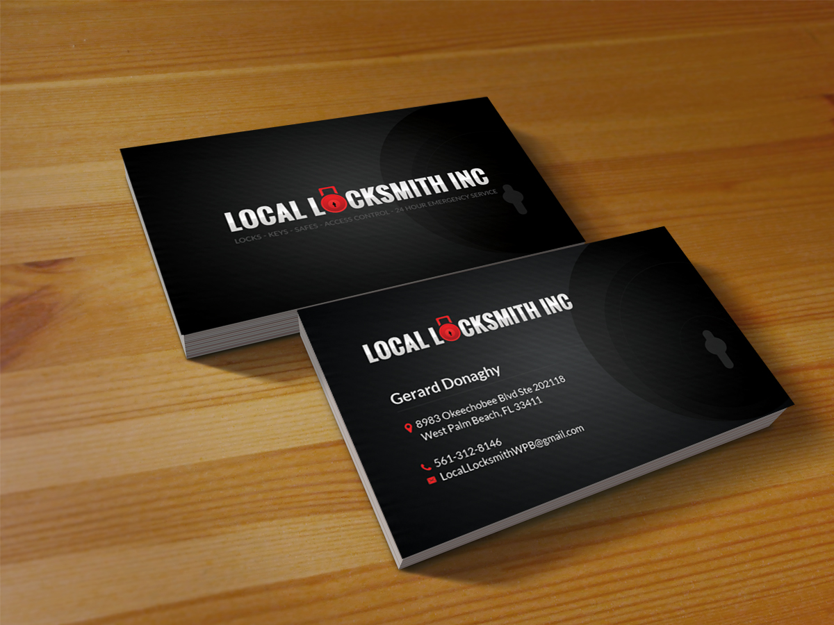 15 Bold Professional Locksmith Business Card Designs for a ...
