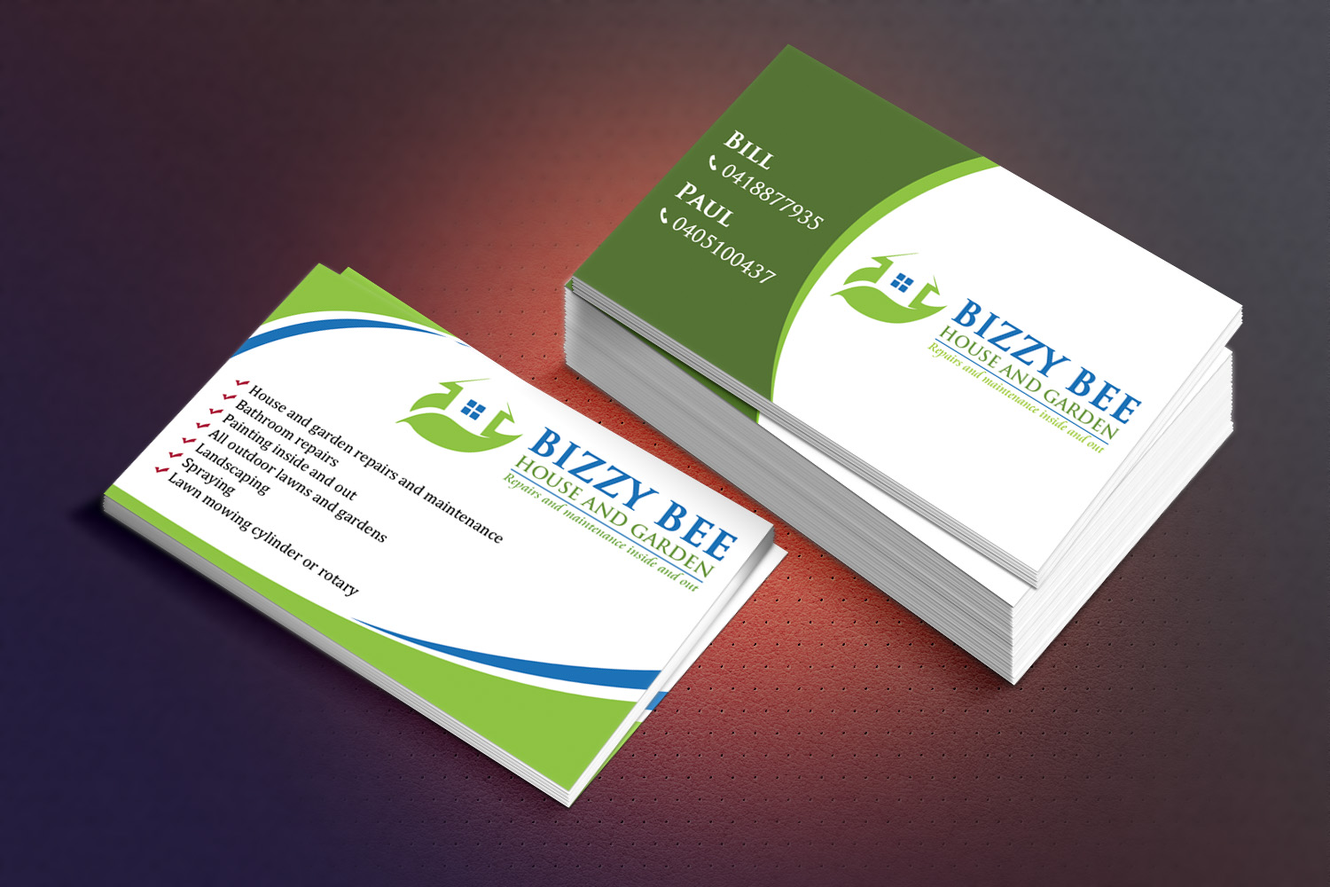 business card design by sandaruwan for bizzy bee house and garden design 5684744