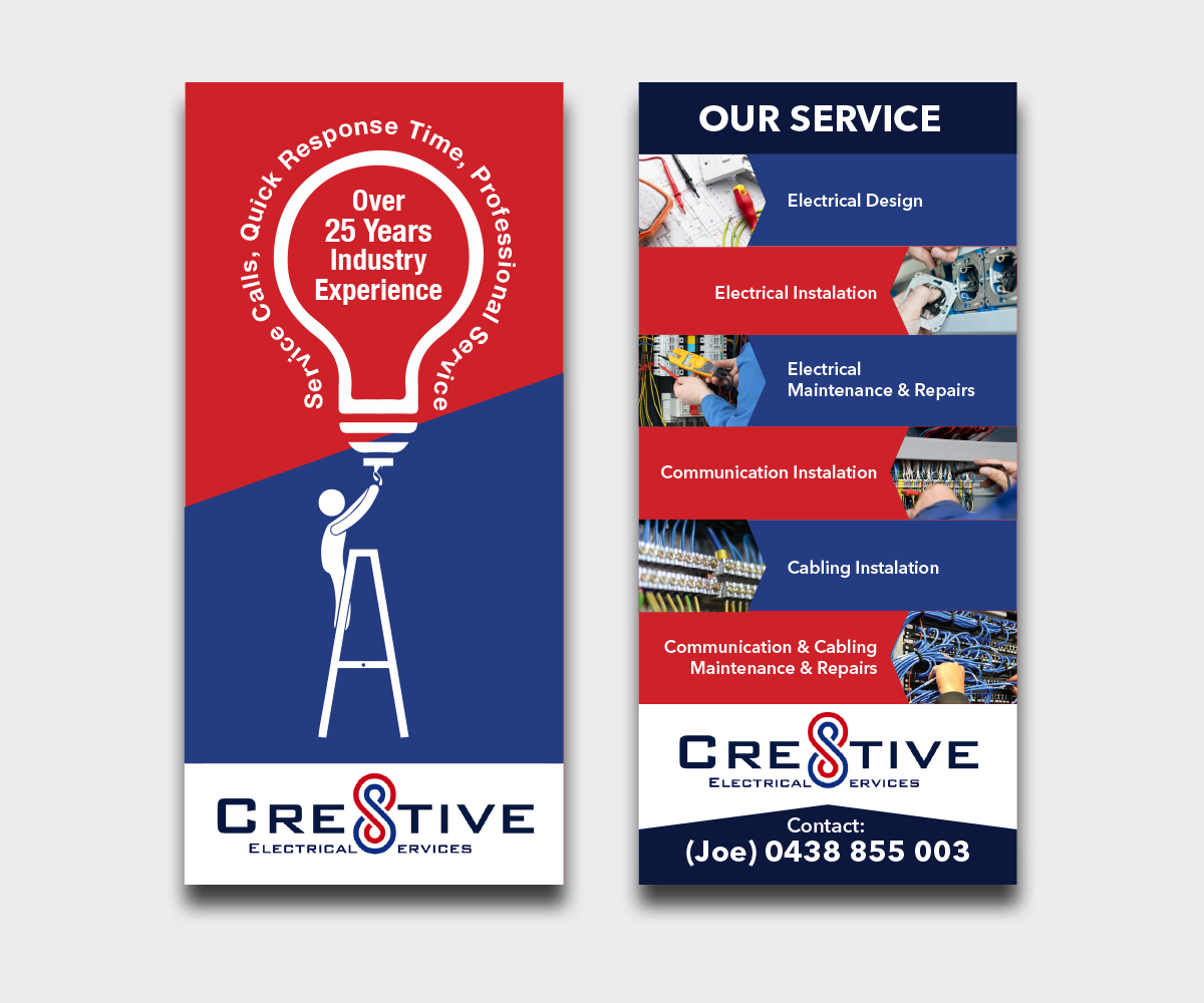 Flyer Design By Mcoco For Cre8tive Electrical Services Needs A
