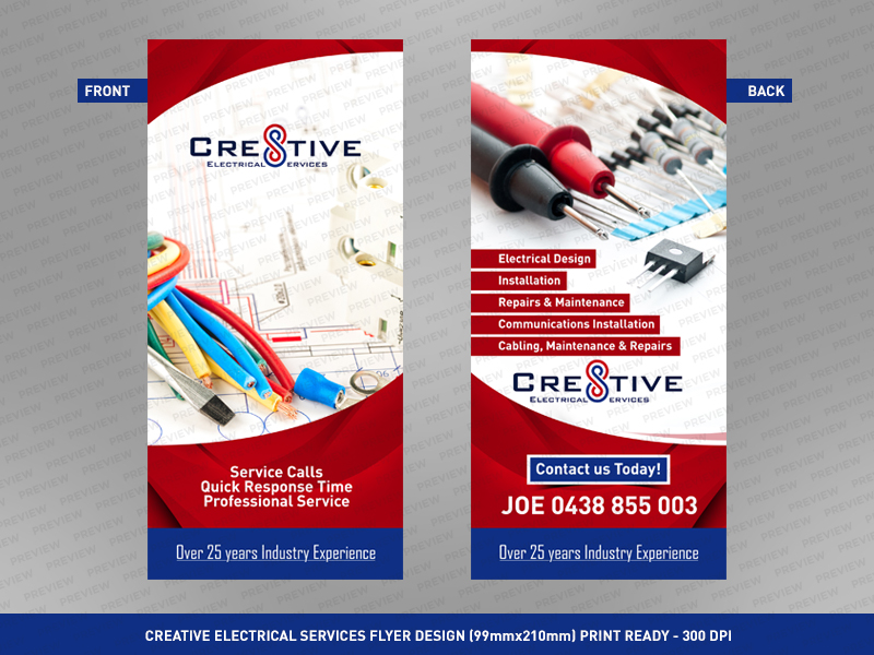 Flyer Design By UniqueCSMtl For Cre8tive Electrical Services Needs A