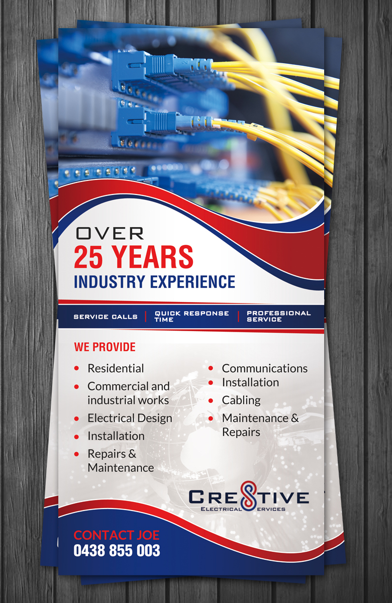 Flyer Design By Debdesign For Cre8tive Electrical Services Needs A