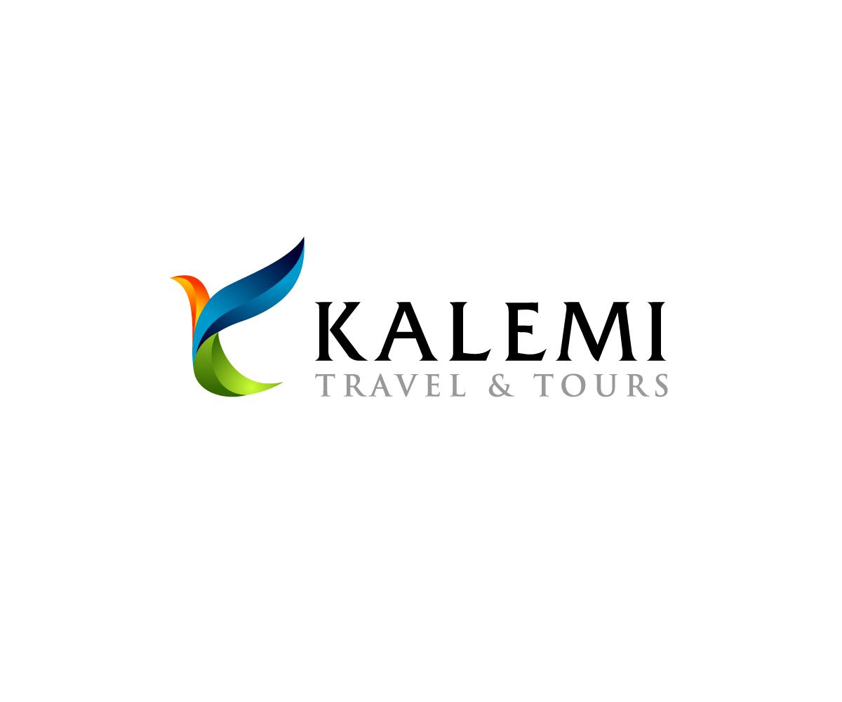 Modern Colorful Logo Design For Kalemi Travel amp Tours By
