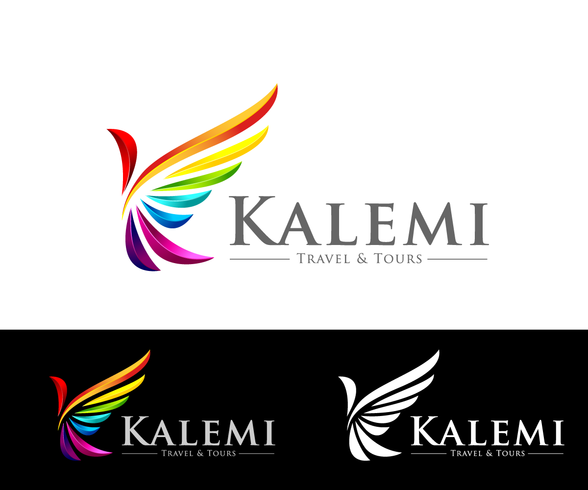 Modern colorful logo design for kalemi travel tours by for Design company
