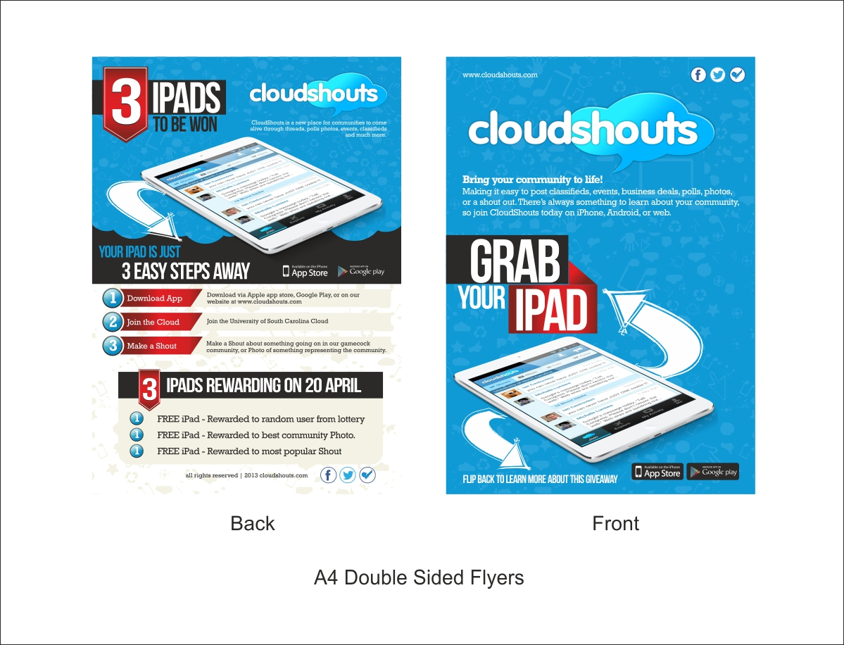 Poster design on ipad - Poster Design By Dhiraj Rao For Ipad Giveaway Poster Design Flyer Design Leaflet