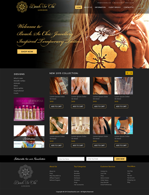 Web Design by OM - web design needed for jewellery inspired tempor ...
