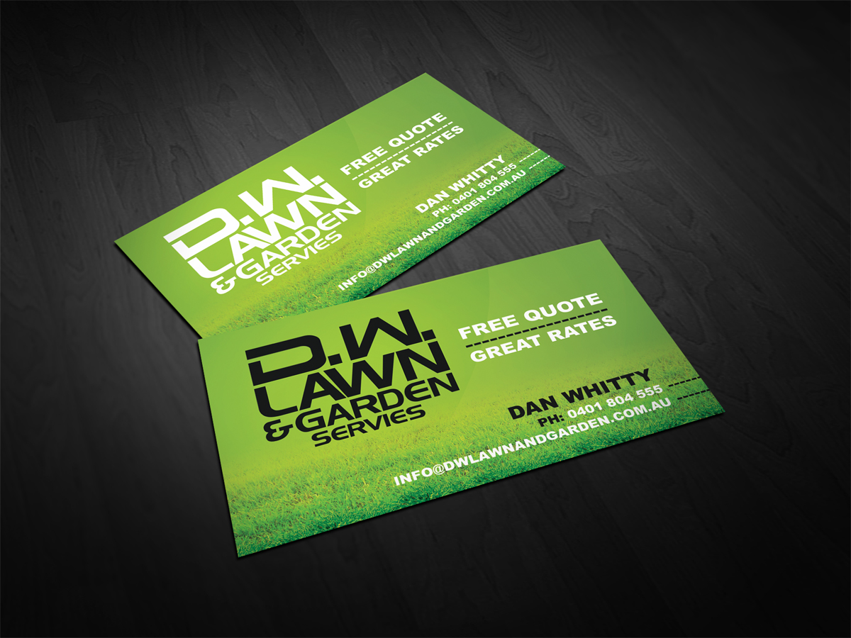 business card design by dirtyemm for lawn garden maintenace business card design needed