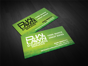 business card design design 1560465 submitted to lawn garden maintenace business card