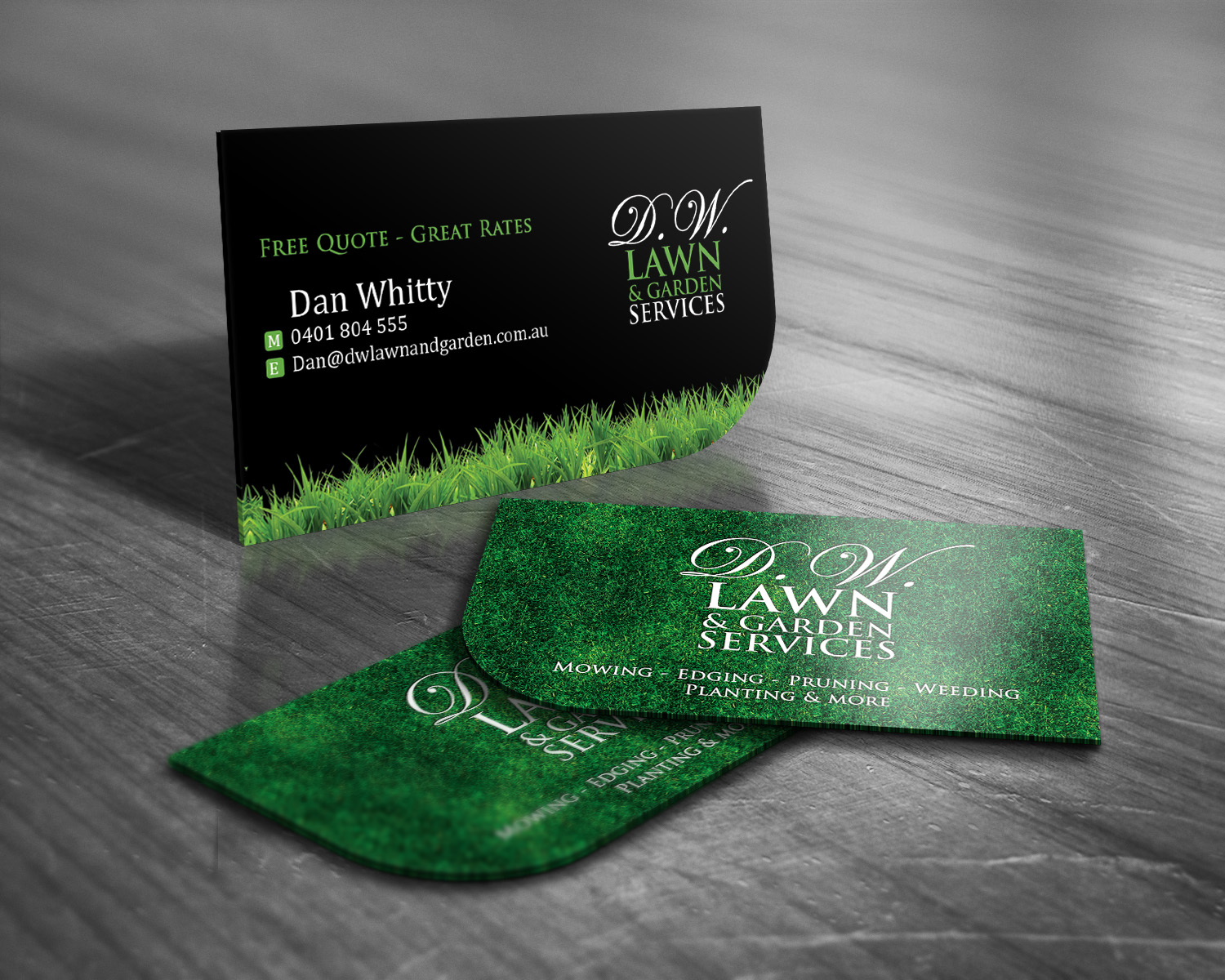 Garden Design Business Cards modern, bold business card design for d.w. lawn & garden services