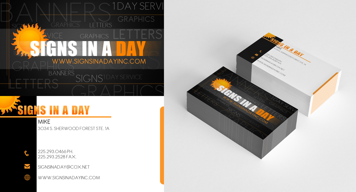 Feminine, Bold Business Card Design for signs in a day by deadPixel ...