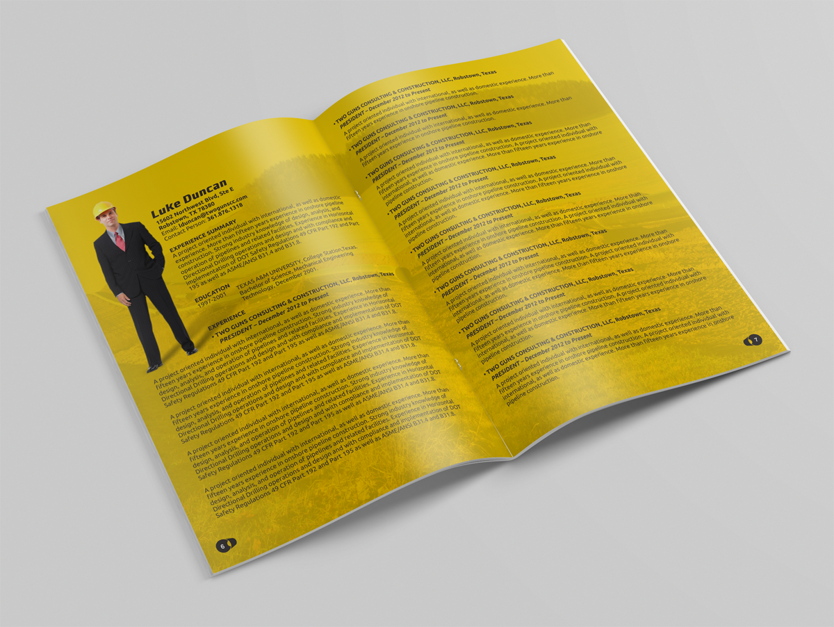 Bold, Serious, Construction Brochure Design for a Company by