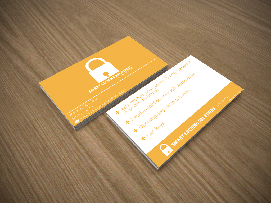 Modern, Conservative, Locksmith Business Card Design for a Company ...