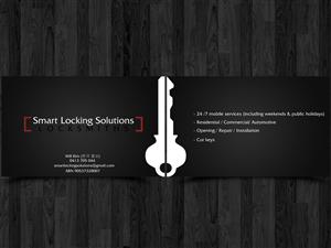 Locksmith business card design 1000s of locksmith business card business card design for will kim by straw hat colourmoves Choice Image
