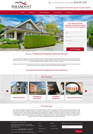 Web Design by  Esolbiz - Home Inspection Company performing home inspect ...