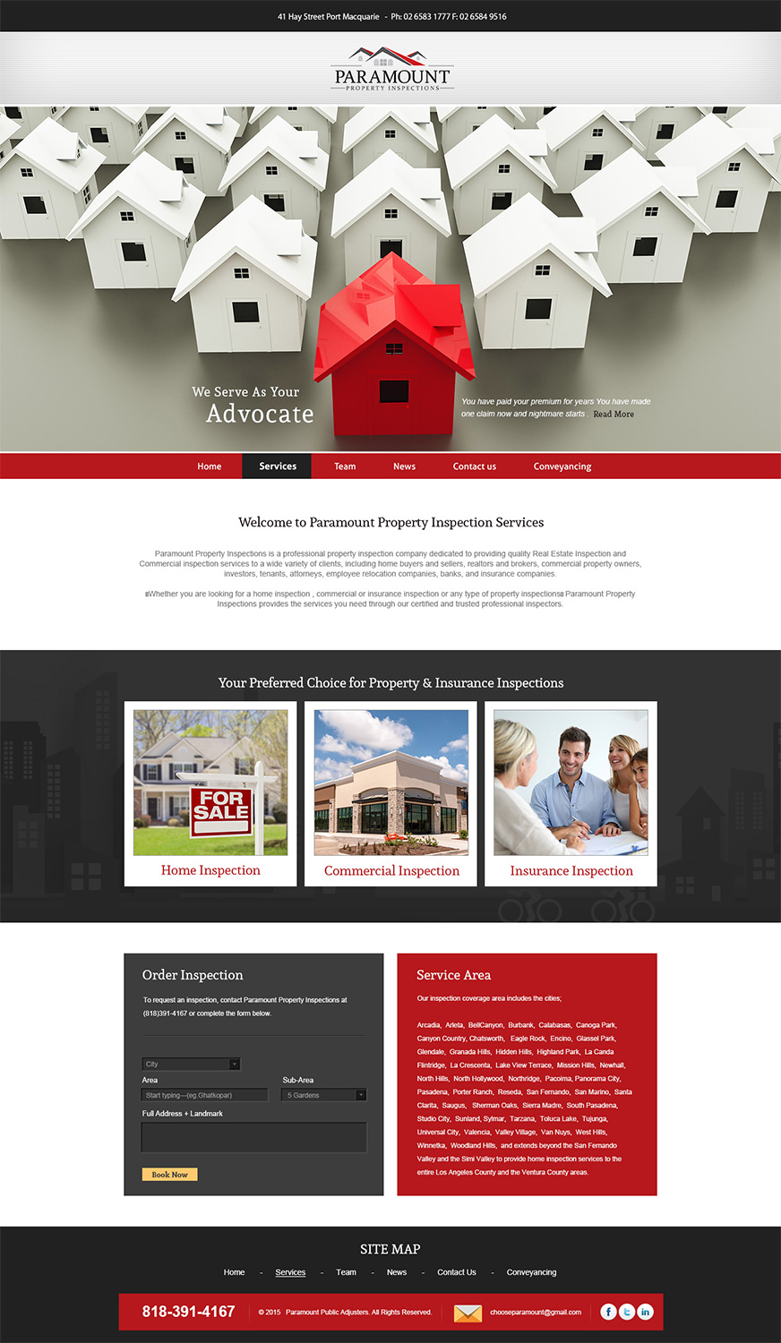 Web Design By Esolbiz For Home Inspection Company Performing Home Inspection  For Home Buyers And Sellers