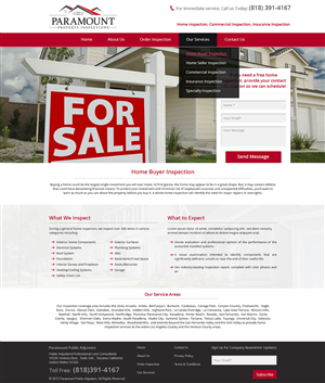 Web Design (Design #5758913) Submitted To Home Inspection Company  Performing Home Inspection For