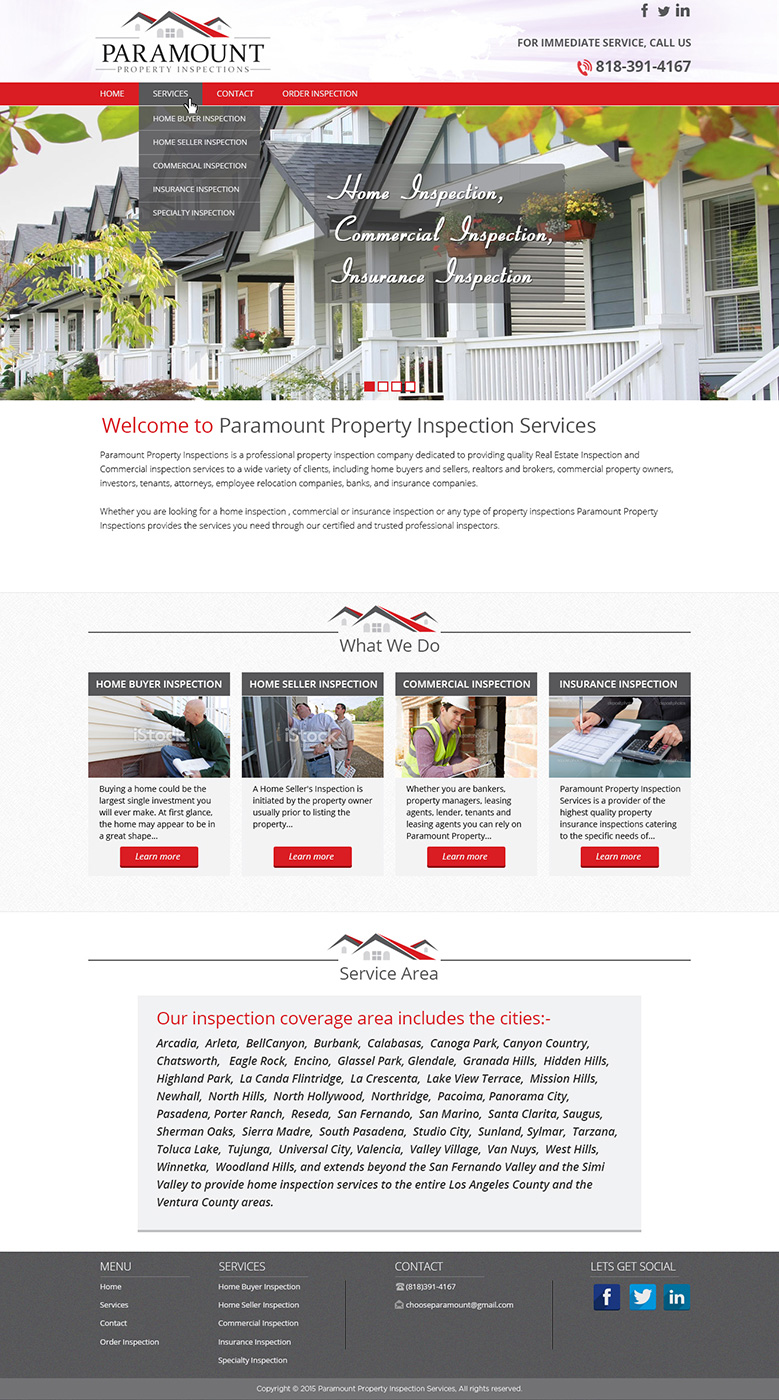 Merveilleux Web Design By Tanvir For Home Inspection Company Performing Home Inspection  For Home Buyers And Sellers