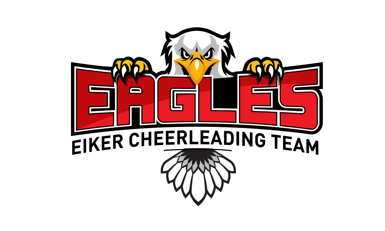 Bold, Playful Logo Design for EIKER CHEERLEADING TEAM EAGLES by ...