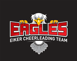 Logo Design By GPGraphix For EIKER CHEERLEADING TEAM EAGLES