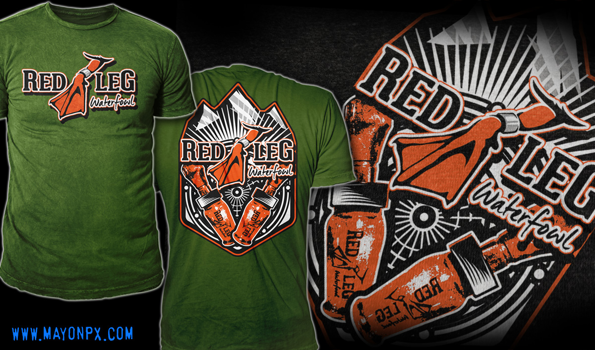 Shirt design red - T Shirt Design Design 5806886 Submitted To Red Leg Waterfowl A