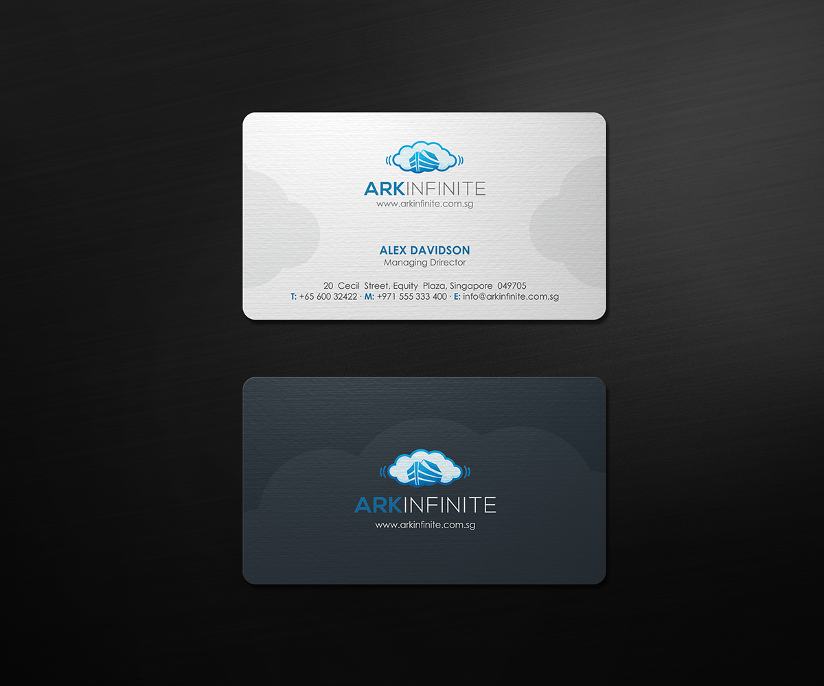 Communication business card design galleries for inspiration business card design for ark infinite pte ltd by logodentity magicingreecefo Gallery