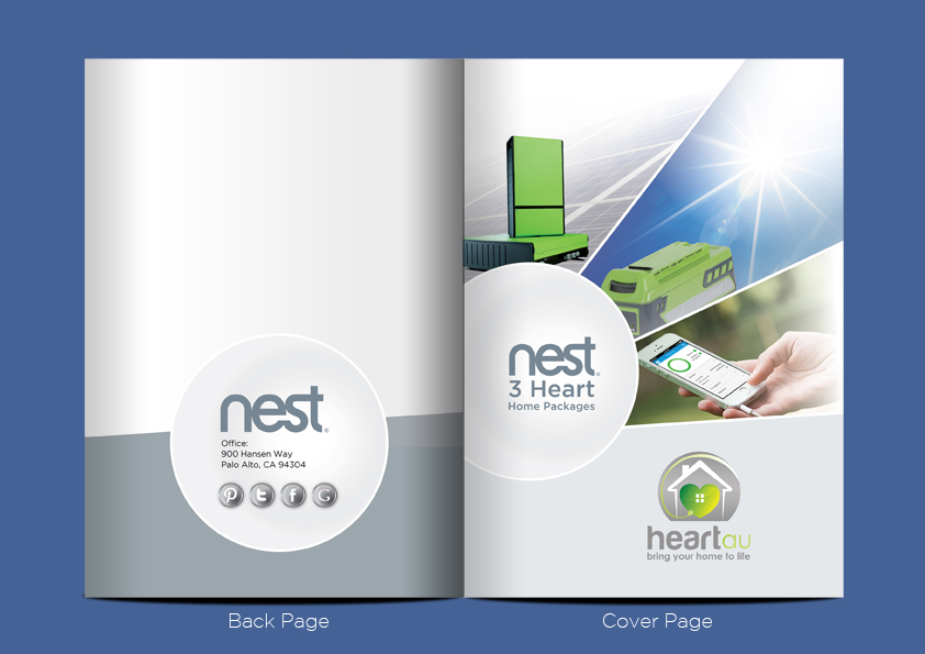 Modern Colorful Brochure Design For Heartau By Ganz Abecia