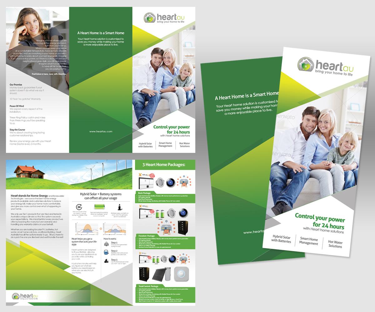 Modern Colorful It Company Brochure Design For Heartau