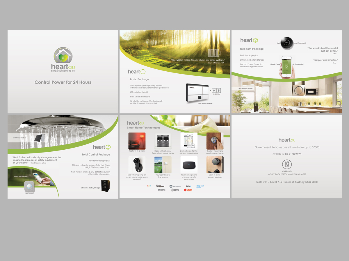 Modern Colorful Brochure Design For Heartau By Leonfx Design
