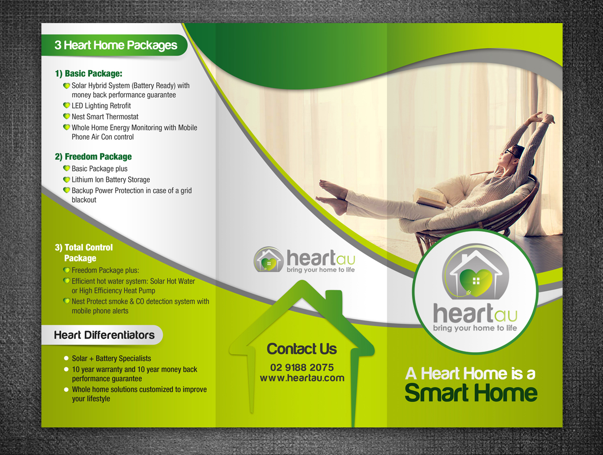 Modern Colorful Brochure Design For Heartau By Esolz Technologies