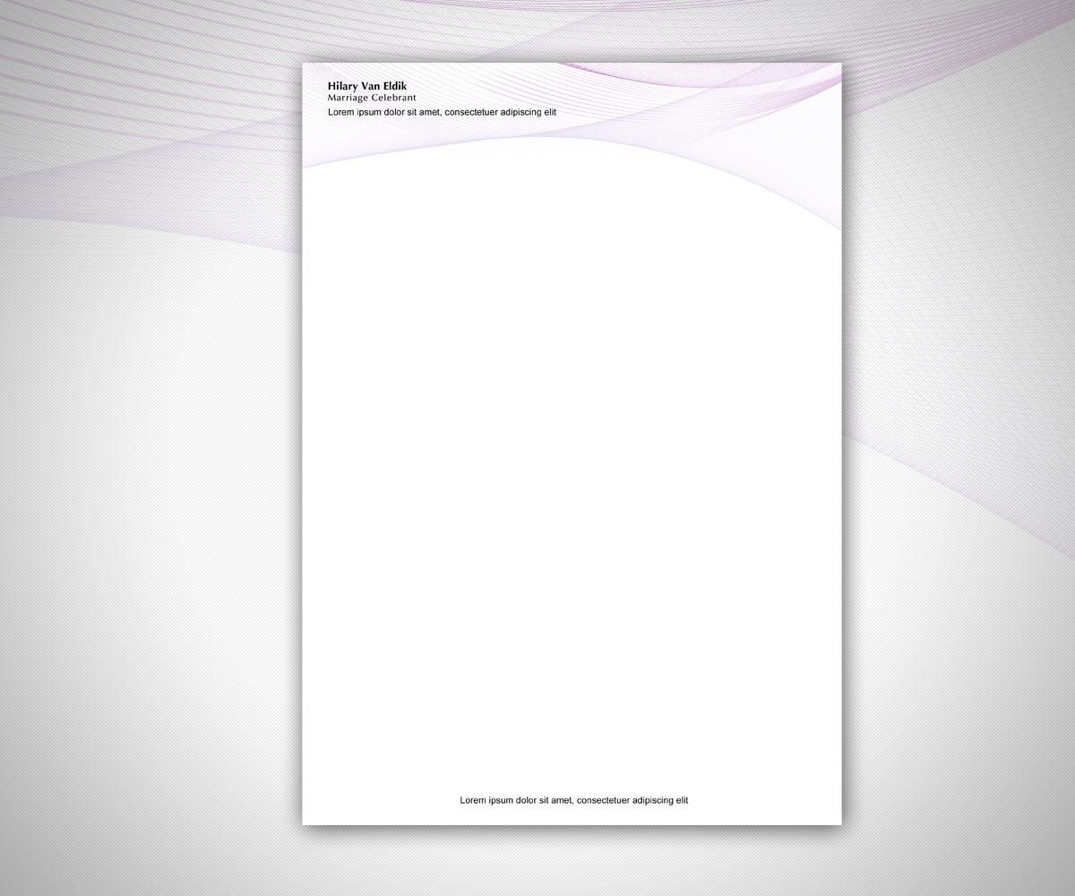 Letterhead Design design for Hilary Van Eldik, a company ...