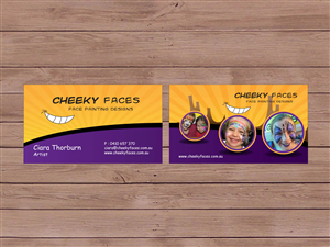 Business Card Design 303469 Submitted To Cheeky Faces Face Painting Company