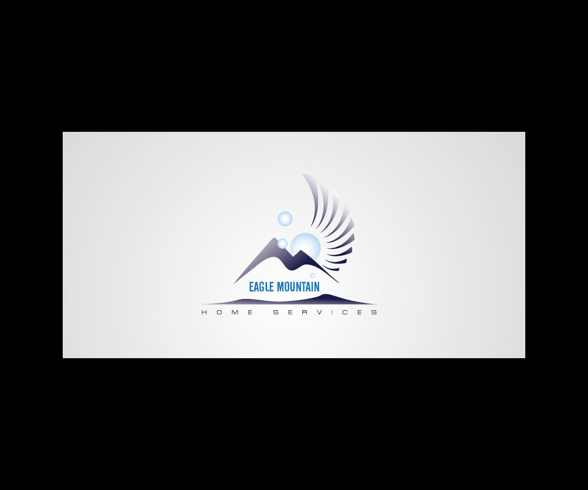 Modern Upmarket Town Logo Design For Eagle Mountain Home