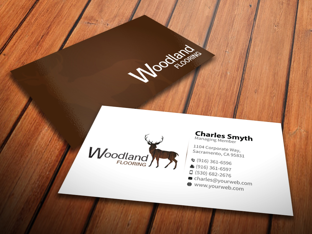 Serious Modern Flooring Business Card Design For A Company By