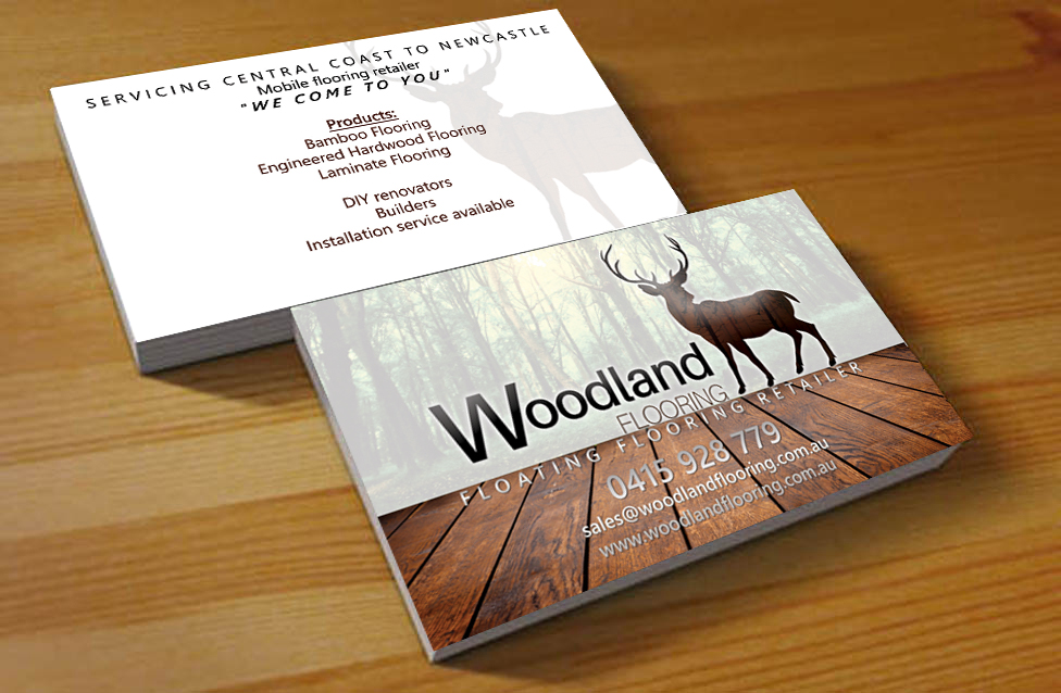 business card design by hardcore design for this project design 5748654 - Flooring Business Cards
