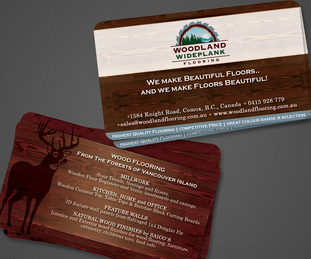 Serious Modern Flooring Business Card Design For A Company By Mank
